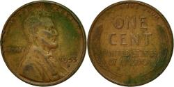 Us Coins - Coin, United States, Lincoln Cent, Cent, 1955, U.S. Mint, Denver,