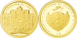 World Coins - PALAU, Dollar, 2009, CIT, KM #241, , Gold, 13.9, 1.24