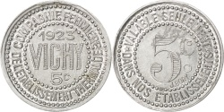 World Coins - France, 5 Centimes, 1923, , Aluminium, Elie #50.8, 0.65