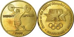 Us Coins - United States of America, Medal, Jeux Olympiques de Los Angeles, Weight Lifting