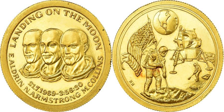 US Coins - United States, Medal, 1969, AU(55-58), Gold