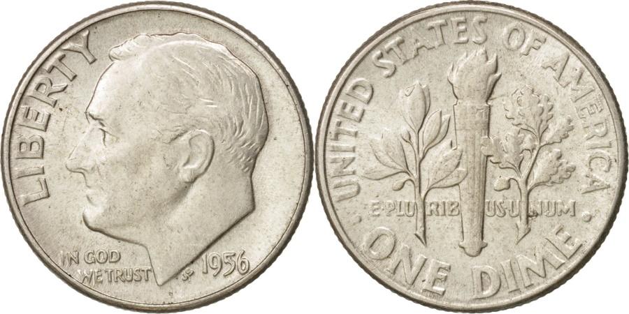 US Coins - United States, Roosevelt Dime, Dime, 1956, U.S. Mint, Philadelphia,