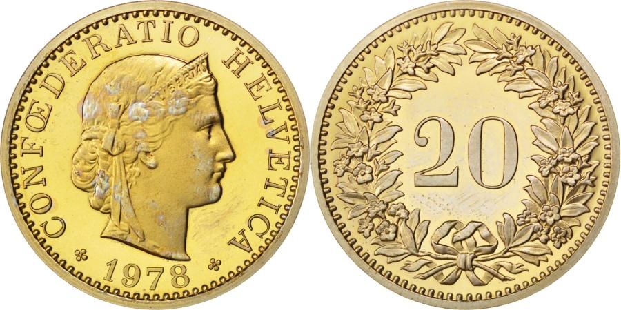 World Coins - SWITZERLAND, 20 Rappen, 1978, Bern, KM #29a, , Copper-Nickel, 21.05, 3.97