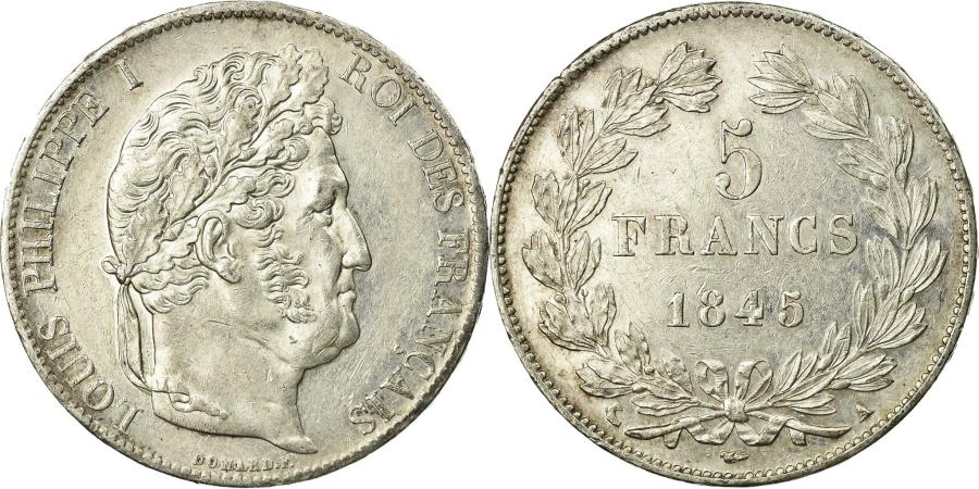 World Coins - Coin, France, Louis-Philippe, 5 Francs, 1845, Paris, , Silver