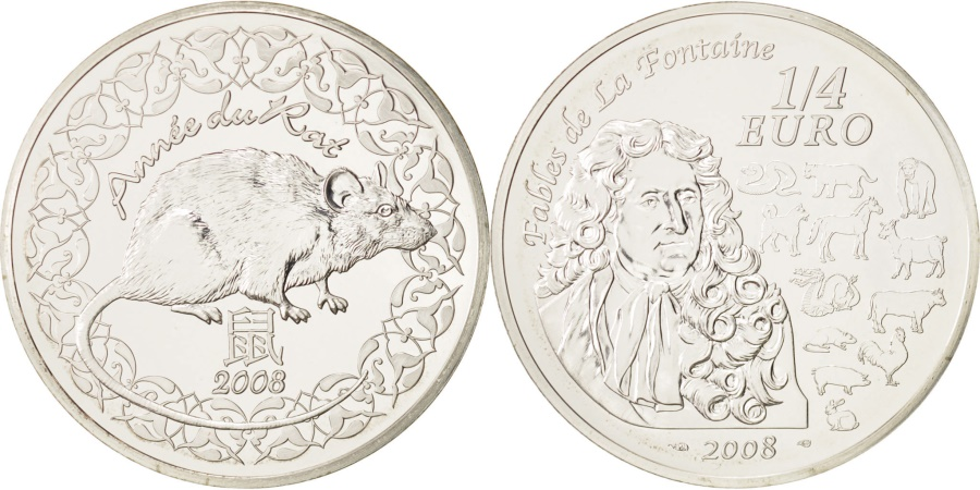 World Coins - France, 1/4 Euro, 2008, , Silver, KM:1572