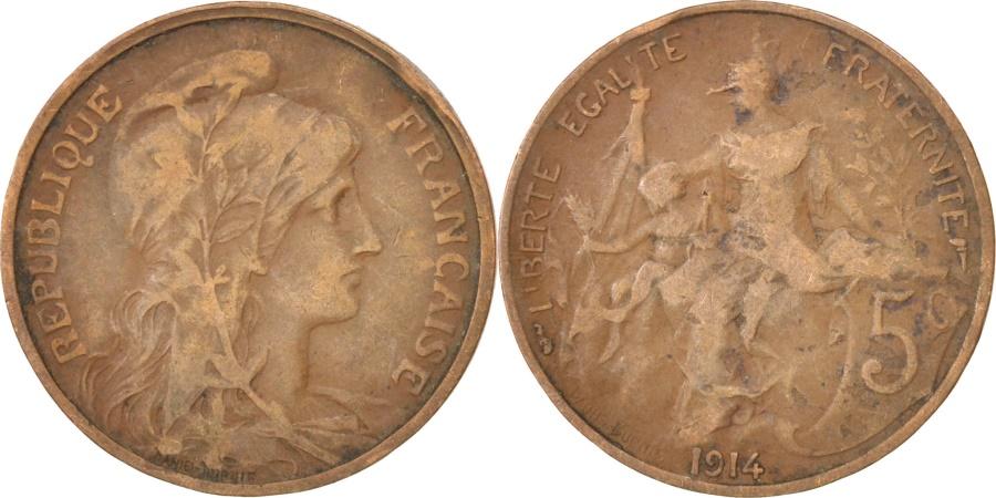 World Coins - FRANCE, Dupuis, 5 Centimes, 1914, Paris, KM #842, , Bronze, 25.1,...