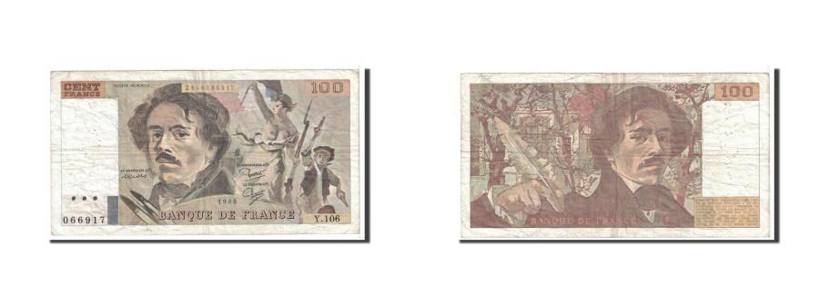 World Coins - France, 100 Francs, 1986, KM:154b, Undated, EF(40-45), Fayette:69.10