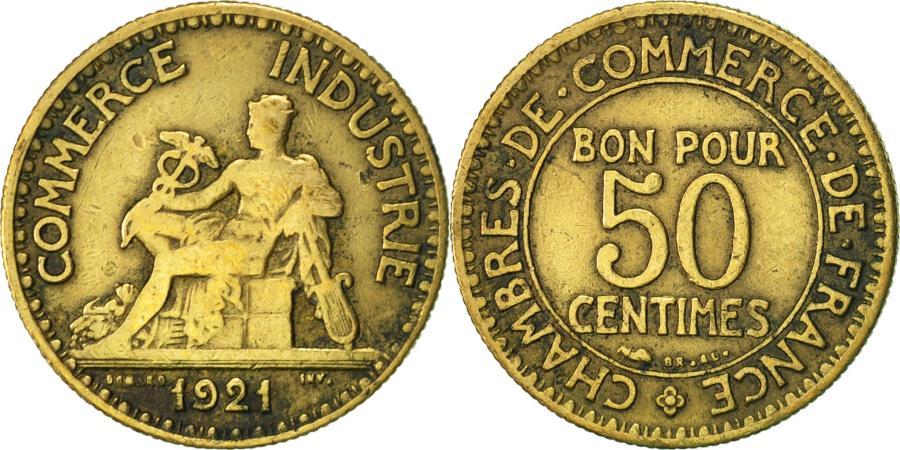 France chambre de commerce 50 centimes 1921 paris vf - Chambre de commerce internationale paris ...