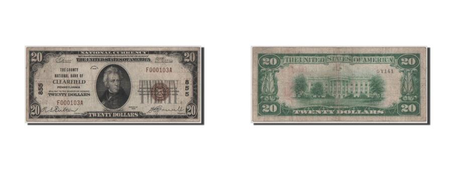 World Coins - United States, 20 Dollars, 1929, VF(20-25)