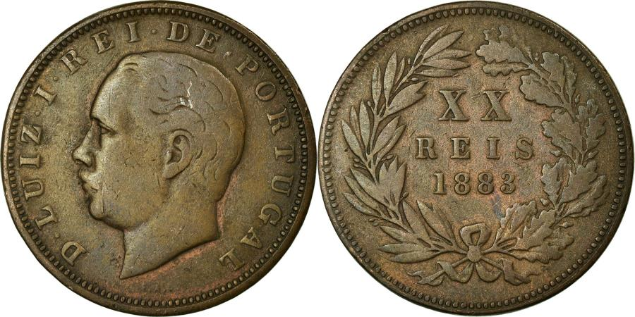 World Coins - Coin, Portugal, Luiz I, 20 Reis, 1883, , Bronze, KM:527