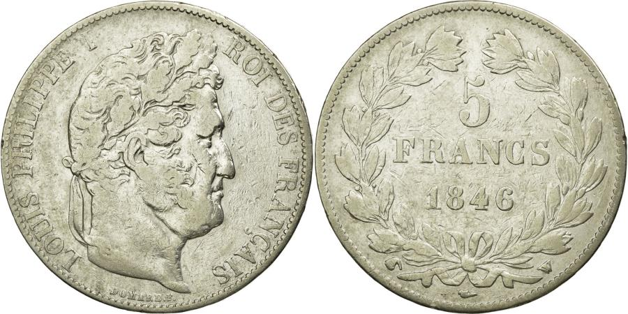 World Coins - Coin, France, Louis-Philippe, 5 Francs, 1846, Lille, VF(20-25), Silver