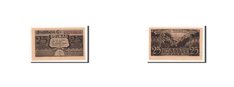 World Coins - Germany, Suderode im Harz, 25 Pfg, paysage 1, 1921-05-13, UNC(65-70), Mehl:1292