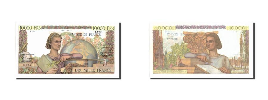 World Coins - France, 10,000 Francs, 10 000 F 1945-1956 ''Génie Français'', 1955, KM:136a