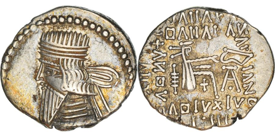 Ancient Coins - Coin, Parthia (Kingdom of), Vologases III, Drachm, Ekbatana, , Silver