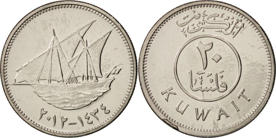 World Coins - Kuwait, 20 Fils, 2012, , Copper-nickel