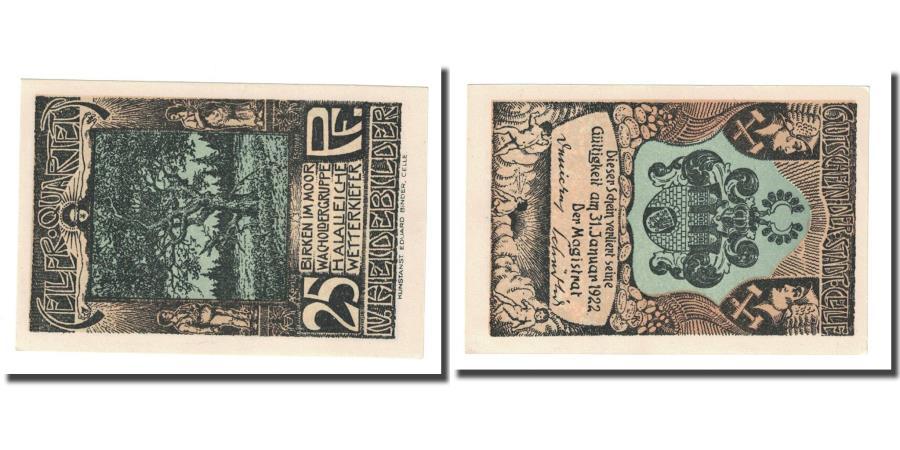 World Coins - Banknote, Germany, Celle, 25 Pfennig, Blason, 1922, UNC(63), Mehl:226.4