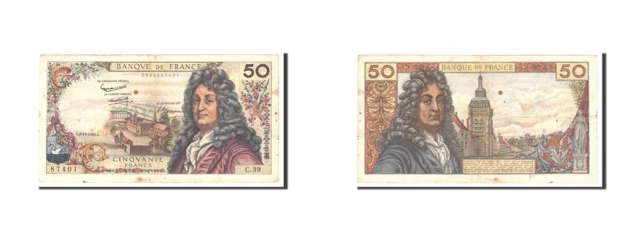 World Coins - France, 50 Francs, 1962, KM:148a, 1962-12-06, EF(40-45), Fayette:64.3