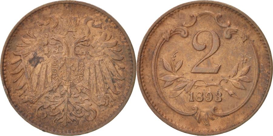 World Coins - Austria, Franz Joseph I, 2 Heller, 1893, , Bronze, KM:2801
