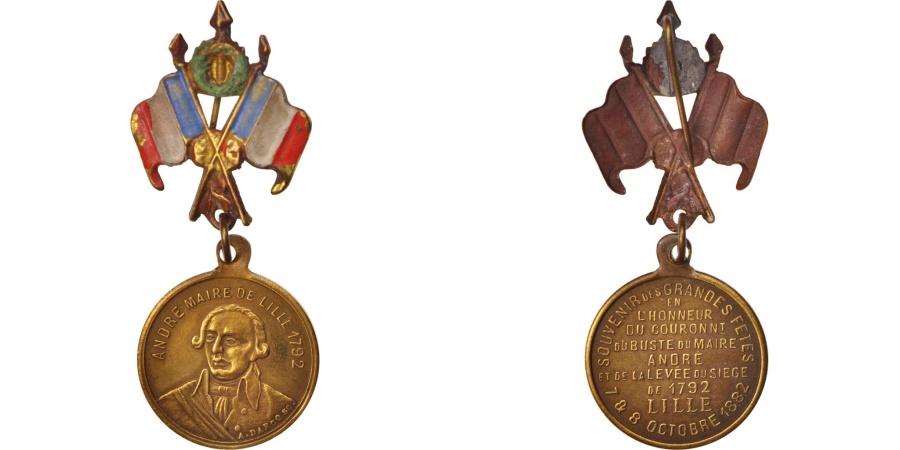 World Coins - France, Couronnement du buste du Maire André le 8 octobre 1882, Medal, 1882