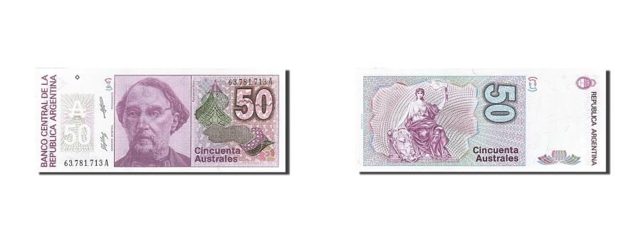 World Coins - Argentina, 50 Australes, 1986-1989, KM:326a, Undated, UNC(63)