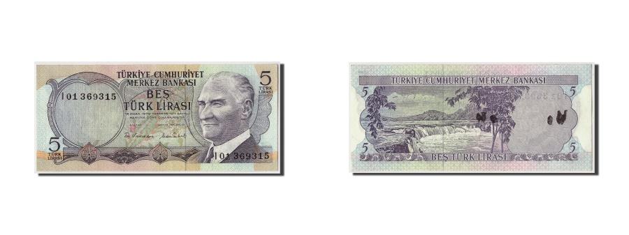 World Coins - Turkey, 5 Lira, KM #185, AU(55-58), I01 369315
