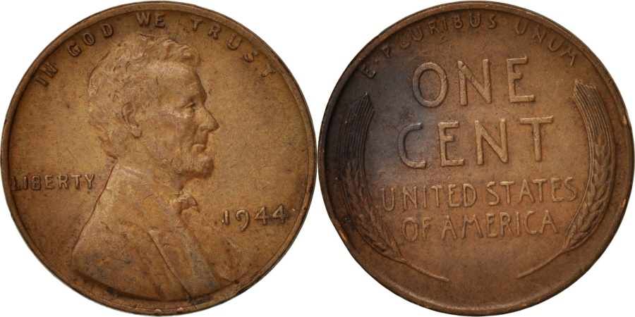 US Coins - United States, Lincoln Cent, 1944, Philadelphia, KM:A132