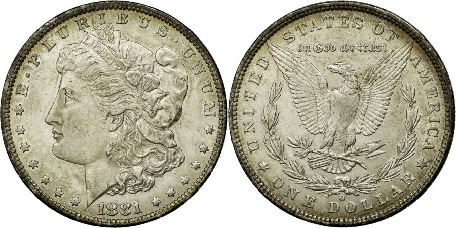 US Coins - Coin, United States, Morgan Dollar, Dollar, 1881, U.S. Mint, New Orleans