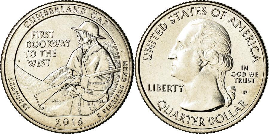 US Coins - Coin, United States, Kentucky, Quarter, 2016, Philadelphia,