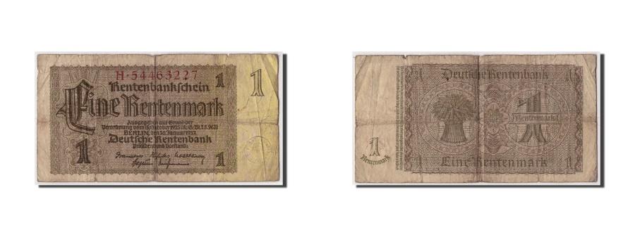 World Coins - Germany, 1 Rentenmark, 1937, KM:173b, 1937-01-30, VG(8-10)
