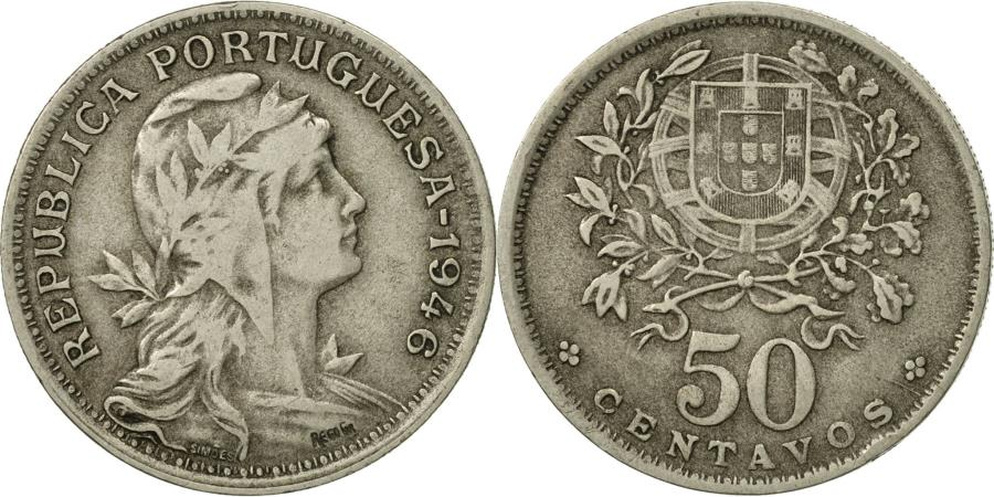 World Coins - Portugal, 50 Centavos, 1946, , Copper-nickel, KM:577