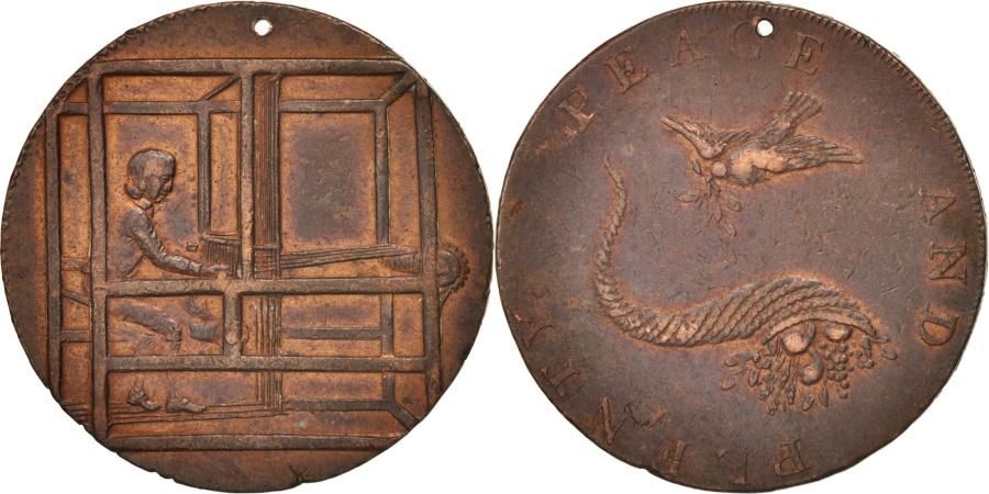 World Coins - Great Britain, Token, Peace and Plenty, XVIIIth Century, , Copper, 28