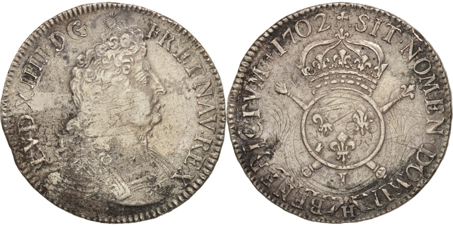 World Coins - France, Louis XIV, Écu aux insignes, Ecu, 1702, Limoges, , Silver