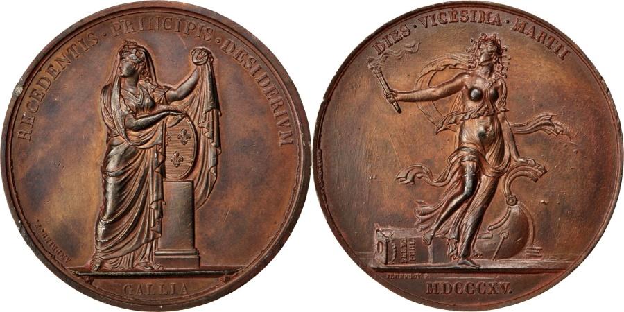 World Coins - FRANCE, Politics, Society, War, Louis XVIII, Medal, 1815, , Andrieu,...