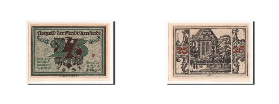World Coins - Germany, Arnstadt, 25 Pfennig, fontaine, 1921, UNC(65-70), Mehl:43.2