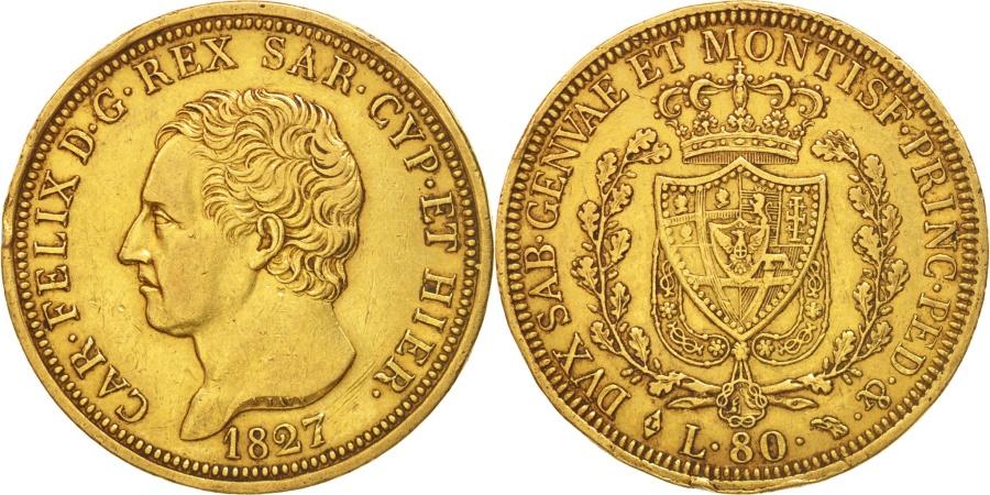 Italian states sardinia carlo felice 80 lire 1827 for Coin torino