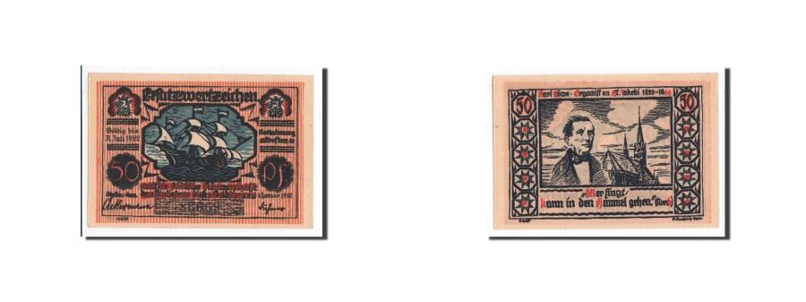World Coins - Germany, Settin, 50 Pfennig, 1922, 1922-01-01, UNC(65-70), Mehl:1270.4