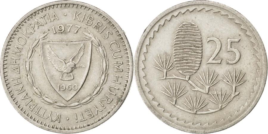 World Coins - CYPRUS, 25 Mils, 1977, KM #40, , Copper-Nickel, 19.41, 2.83