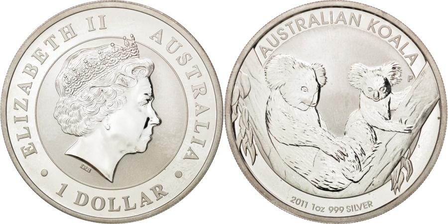World Coins - Australia, 1 Dollar, 2011, , Silver, 31.84