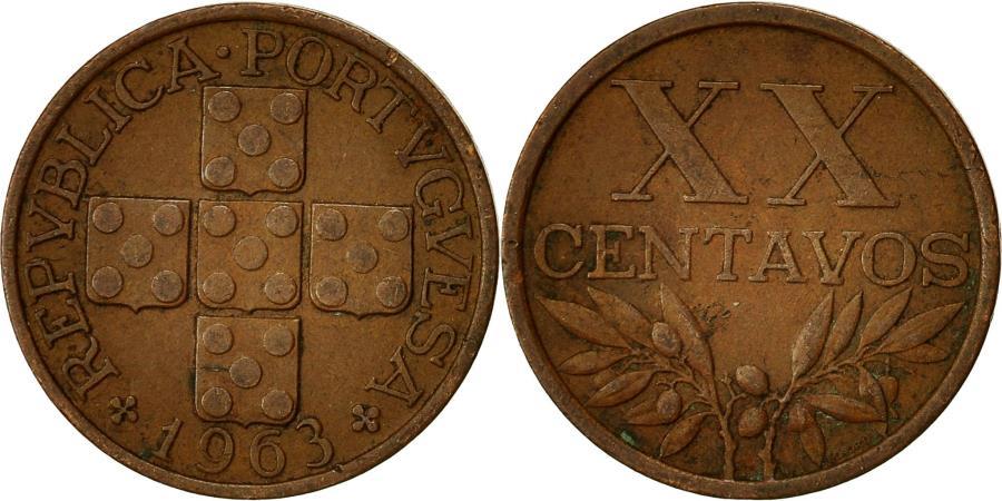 World Coins - Coin, Portugal, 20 Centavos, 1963, , Bronze, KM:584