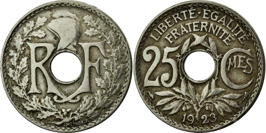 World Coins - Coin, France, Lindauer, 25 Centimes, 1923, VF(20-25), Copper-nickel, KM:867a