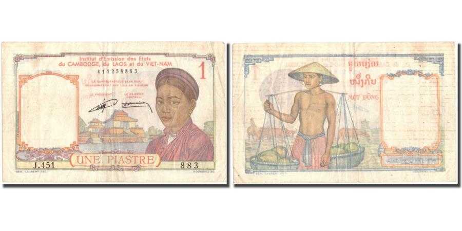 French Indo China Vietnam 1 Piastre Banknote 1949