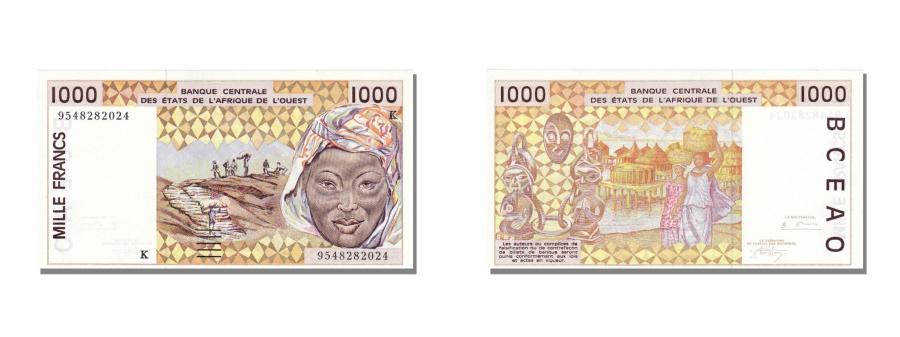 World Coins - West African States, 1000 Francs, 1995, KM #711Ke, UNC(65-70), K