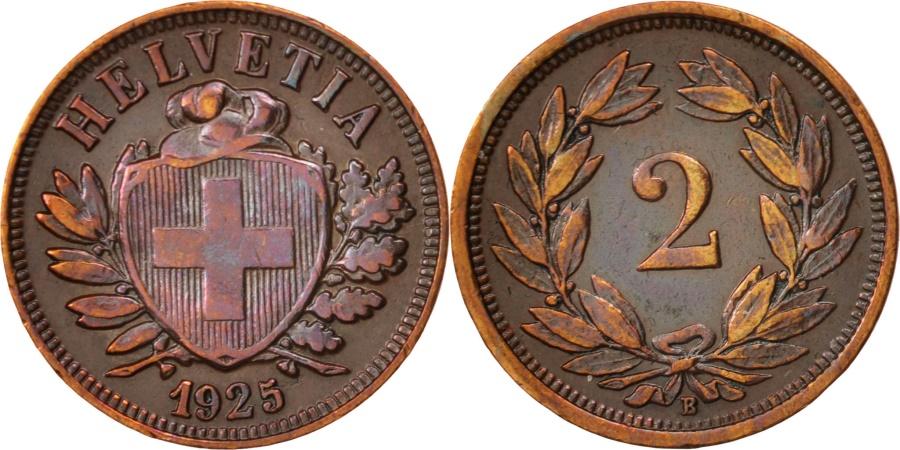 World Coins - Switzerland, 2 Rappen, 1925, Bern, , Bronze, KM:4.2