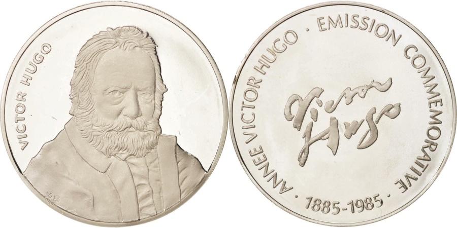 World Coins - France, Medal, Victor Hugo, Arts & Culture, 1985, , Silver