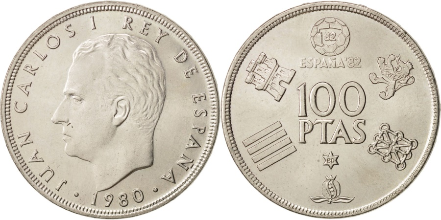 World Coins - Spain, Juan Carlos I, 100 Pesetas, 1982, , Copper-nickel, KM:820