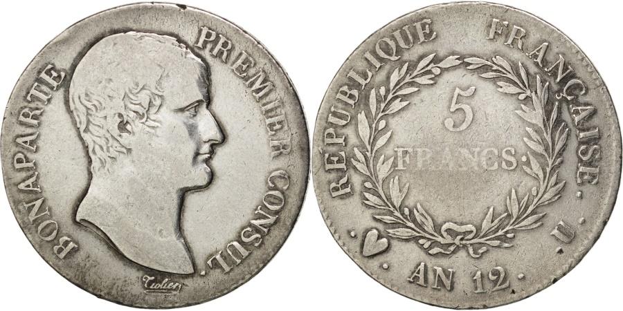 France napol on i 5 francs 1807 torino km vf for Coin torino