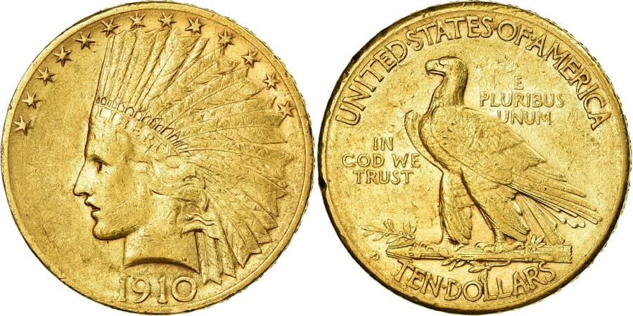 US Coins - Coin, United States, Indian Head, $10, Eagle, 1910, Denver, , Gold