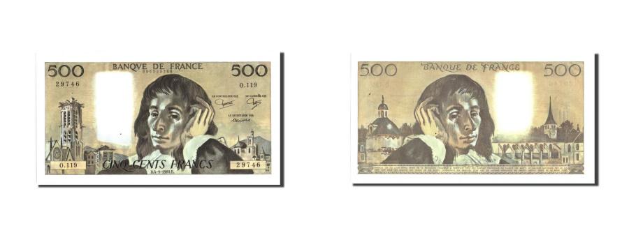 World Coins - France, 500 Francs, 500 F 1968-1993 ''Pascal'', 1980, KM:156e, 1980-09-04