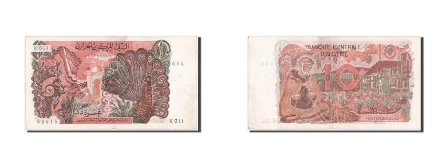 World Coins - Algeria, 10 Dinars, 1970, KM #127a, AU(55-58), K