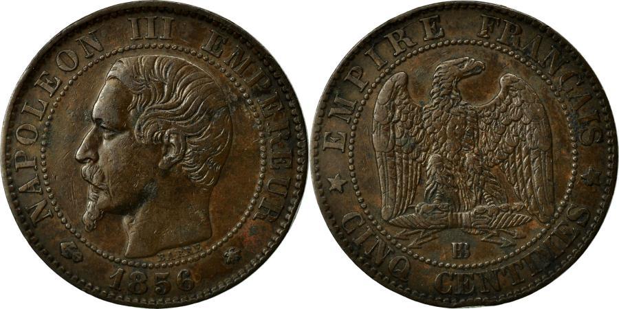 World Coins - Coin, France, Napoleon III, Napoléon III, 5 Centimes, 1856, Strasbourg